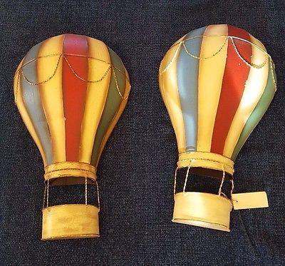 Vintage Metal Hot Air Balloon Wall Art Decor Hanging Home Office