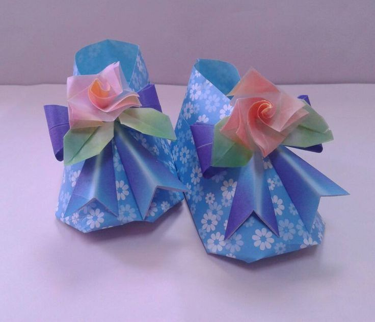 Origami Baby Shoes Gift For My Friend Design By Tomoko Fuse