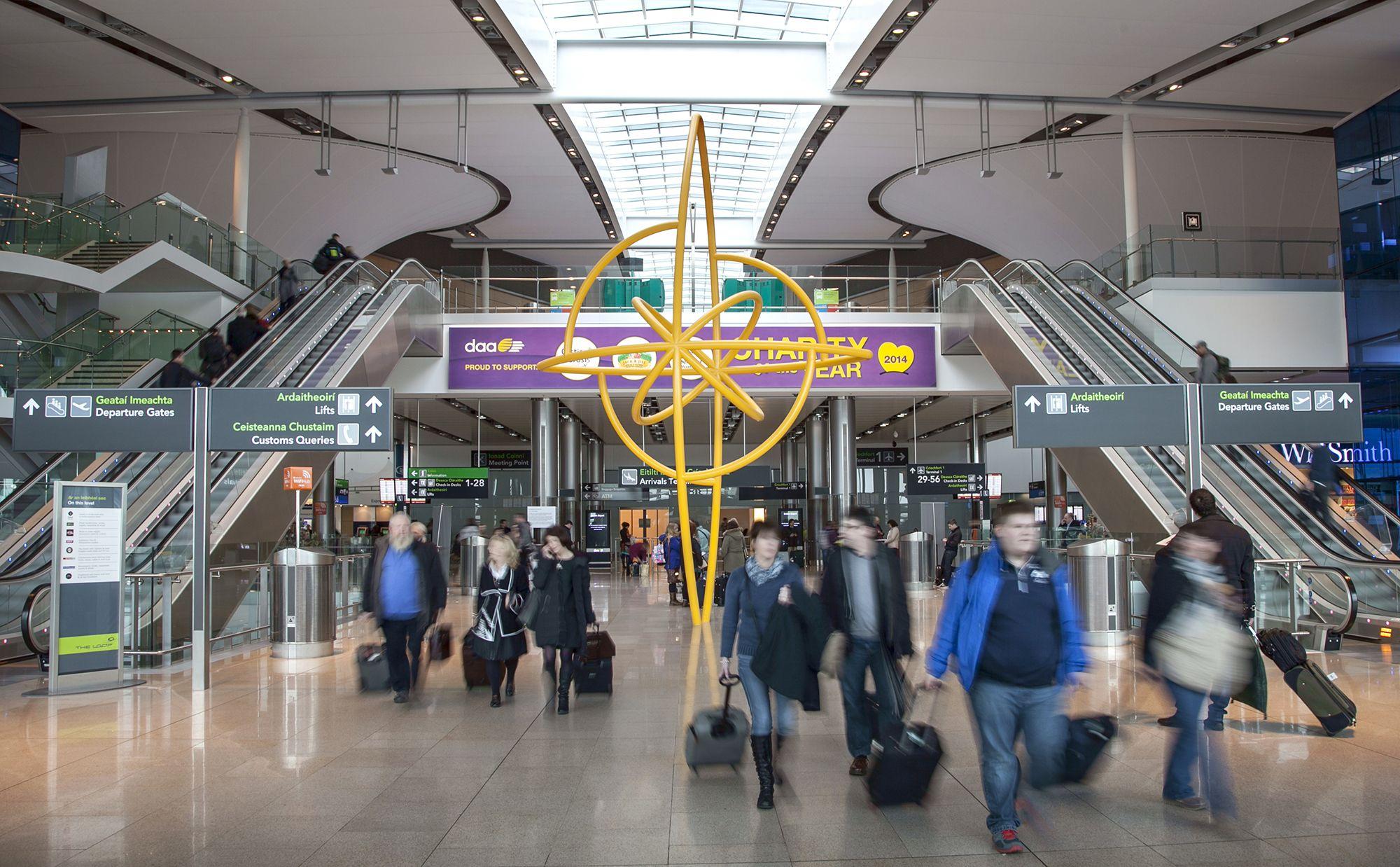 Terminal 2 arrivals at Dublin Airport Terminal