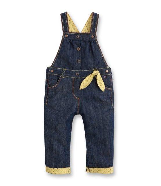 99dcd9911be341 Salopette en jean - Bleu indigo - Bébé fille - Obaïbi & Okaïdi ...