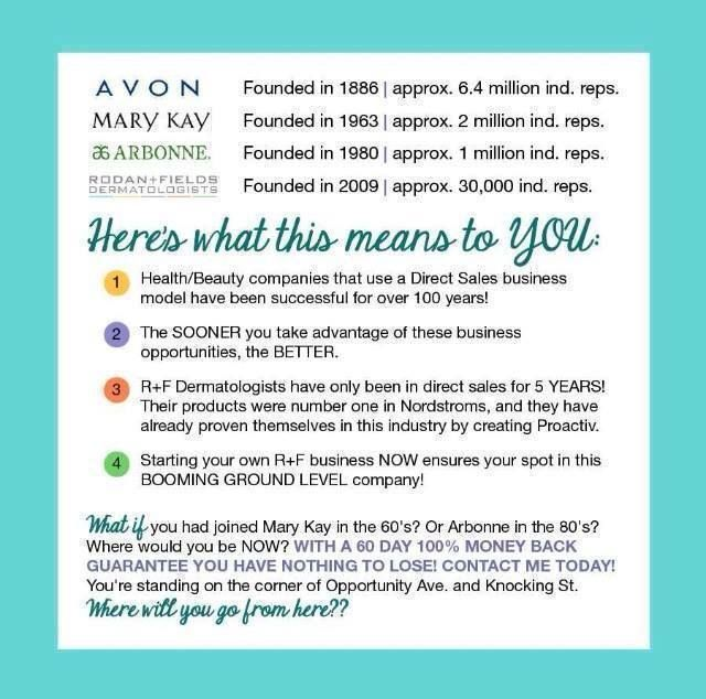 Different Skin Care Company Comparisons Rodanandfields Avon Marykay Arbonne Skincare Derma Rodan And Fields Business Rodan And Fields My Rodan And Fields