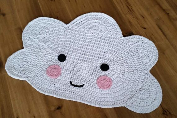 Children S Rug Cloud Cloud Carpet Crochet Crochet Rug Crochet Carpet Crochet For Kids