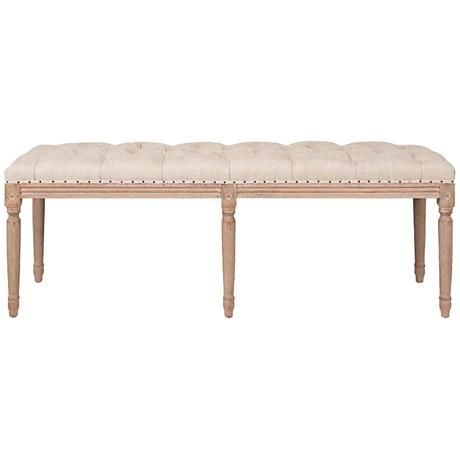 Built From Solid Oak And Featuring A Tufted Fabric Seat, This Traditional Dining  Bench Ups