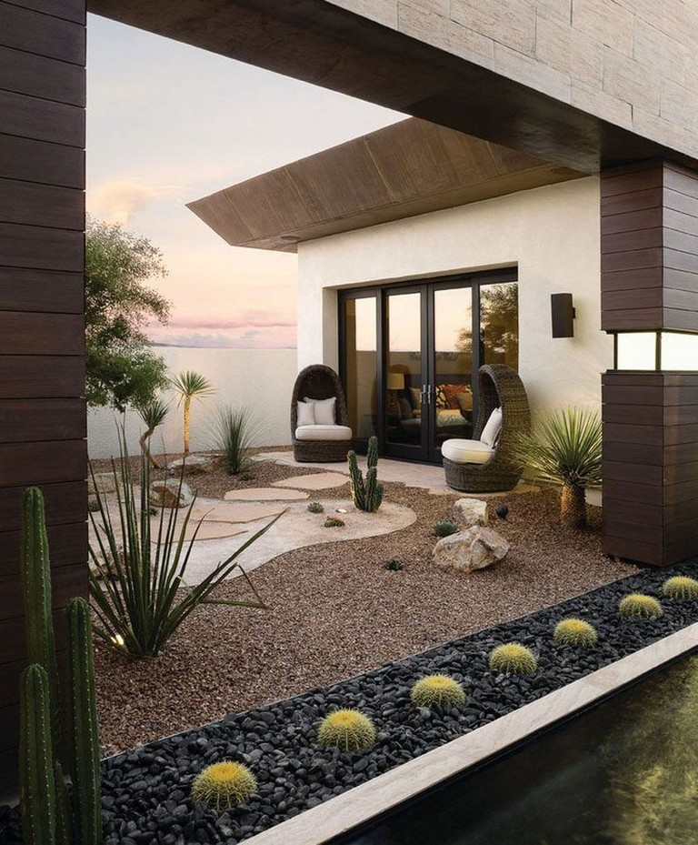 40+ Relaxing Modern Rock Garden Ideas To Make Your ...
