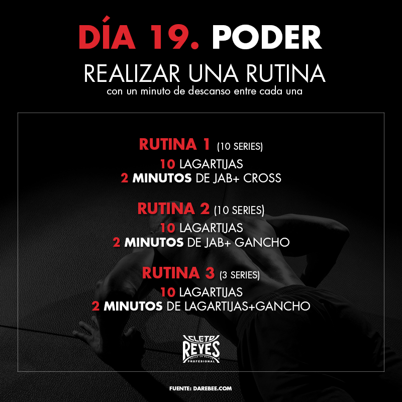 Día 19. Poder. #RetoDelBoxeador #Box #Boxing #CletoReyes #workout #training