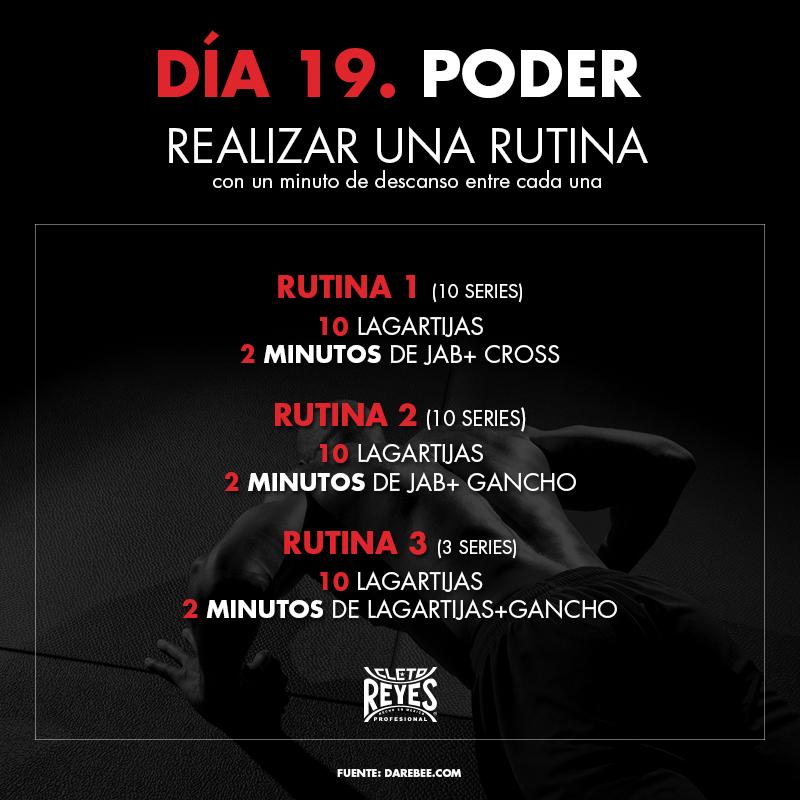 Día 19. Poder. #RetoDelBoxeador #Box #Boxing #CletoReyes #workout #training