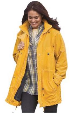 Jacket Anorak In Weather Resistant Taslon Raincoat Jackets Plus Size Raincoat
