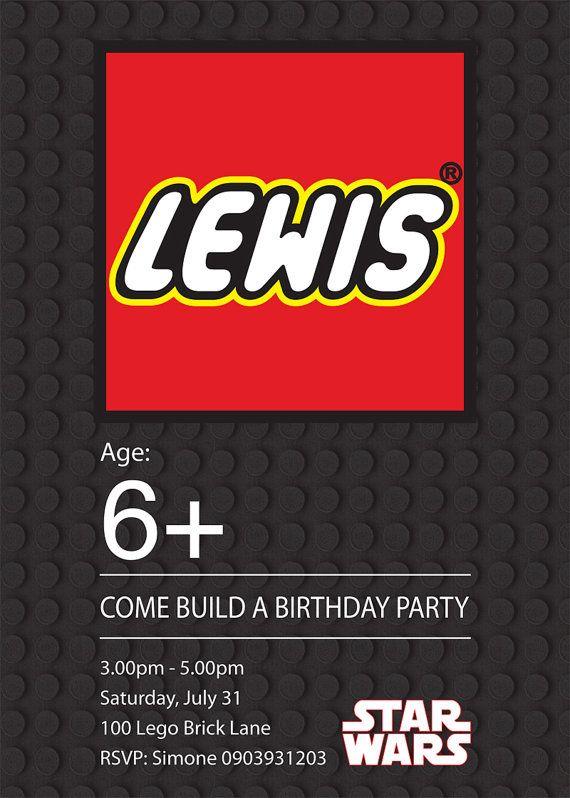 Star Wars Lego Invite