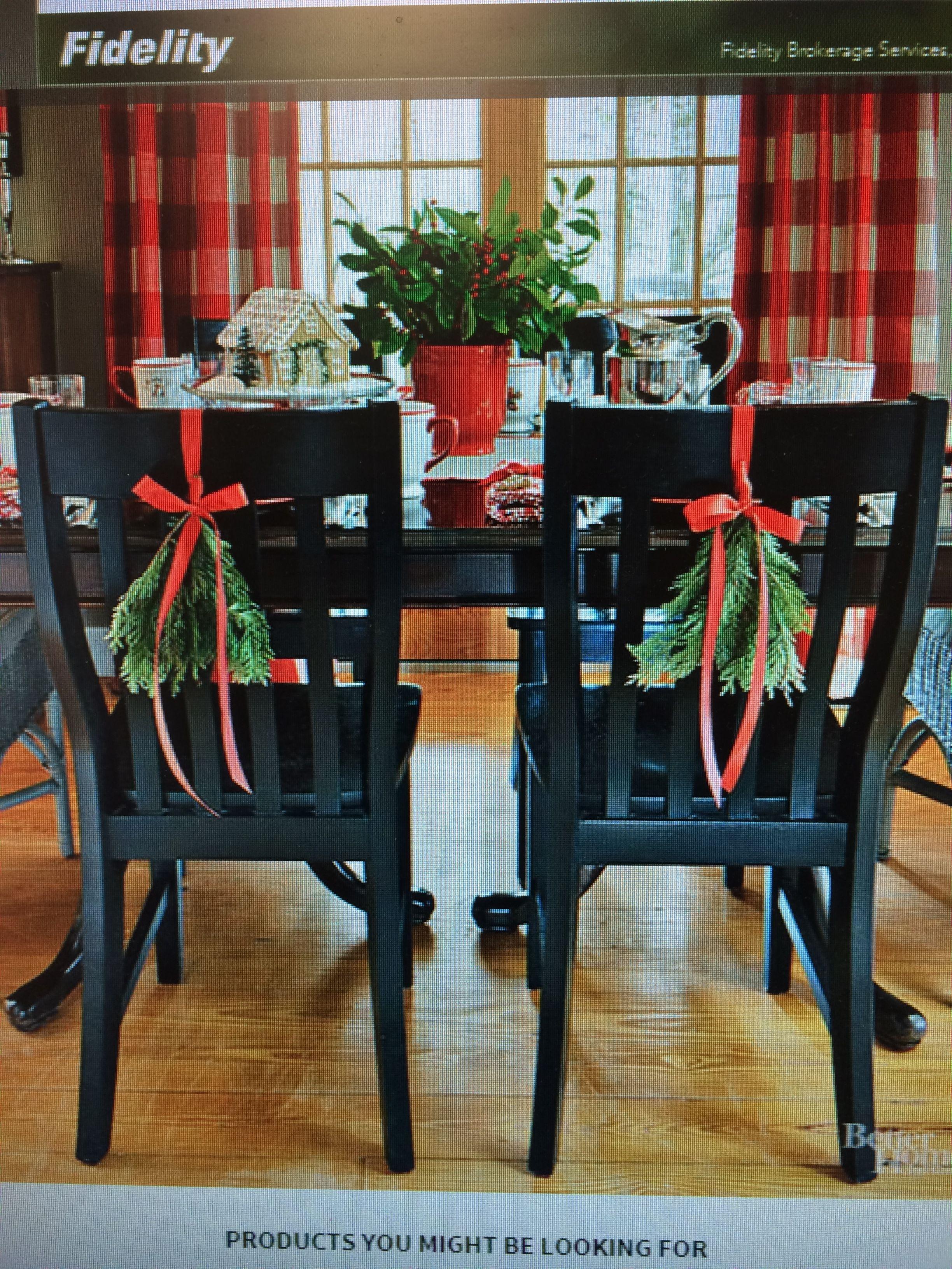 Pin By Cindy Reilly On Christmas Cheer Diy Christmas Table Christmas Chair Diy Holiday Decor
