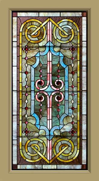 antique stained glass windows value cost opalescent window jewels classical architectural design for sale used