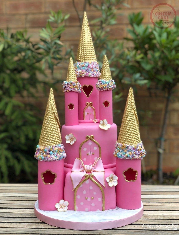 Incredible Princess Birthday Cake Princess Castle Birthday Cake Custom Cake Personalised Birthday Cards Petedlily Jamesorg