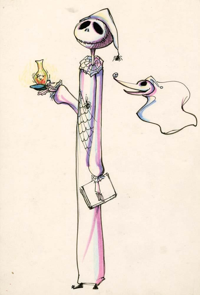 Tim Burton Nightmare Before Christmas Artwork.Timburtonsblog Original Sketches By Tim Burton The