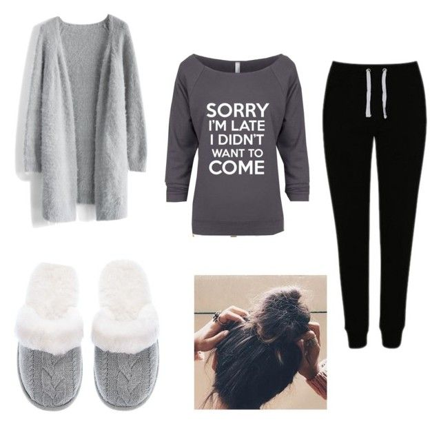 """""""Comfy"""" by nyshaia-whatley ❤ liked on Polyvore featuring Chicwish, George and Victoria's Secret"""