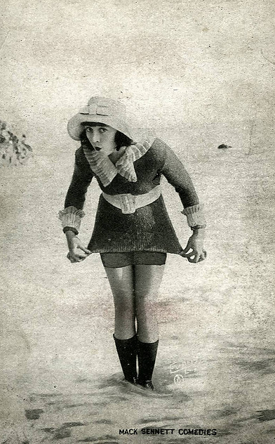 vintage picture beach