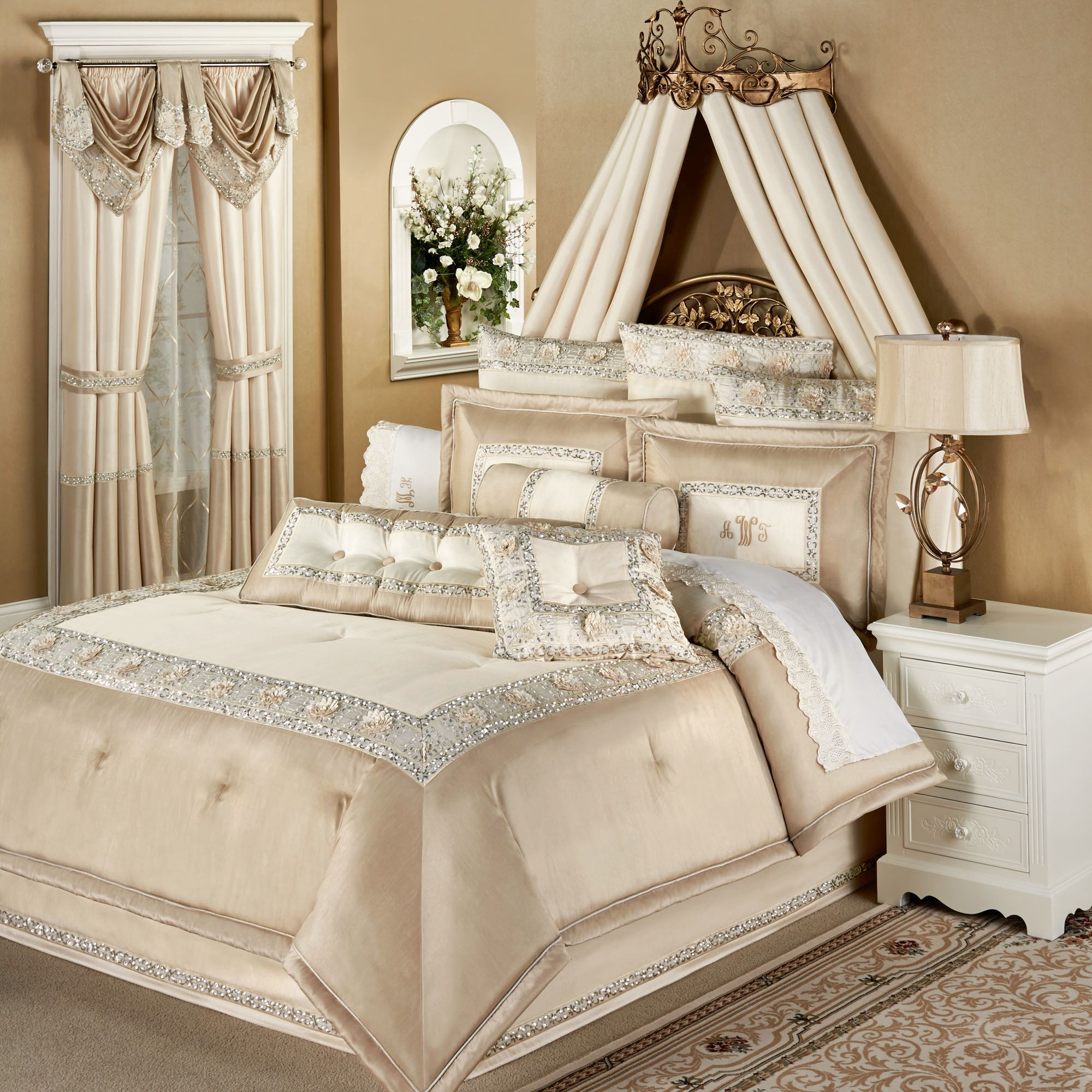 Bedroom: Interesting Design Bed King Size With Luxury Comforter Sets Part 58