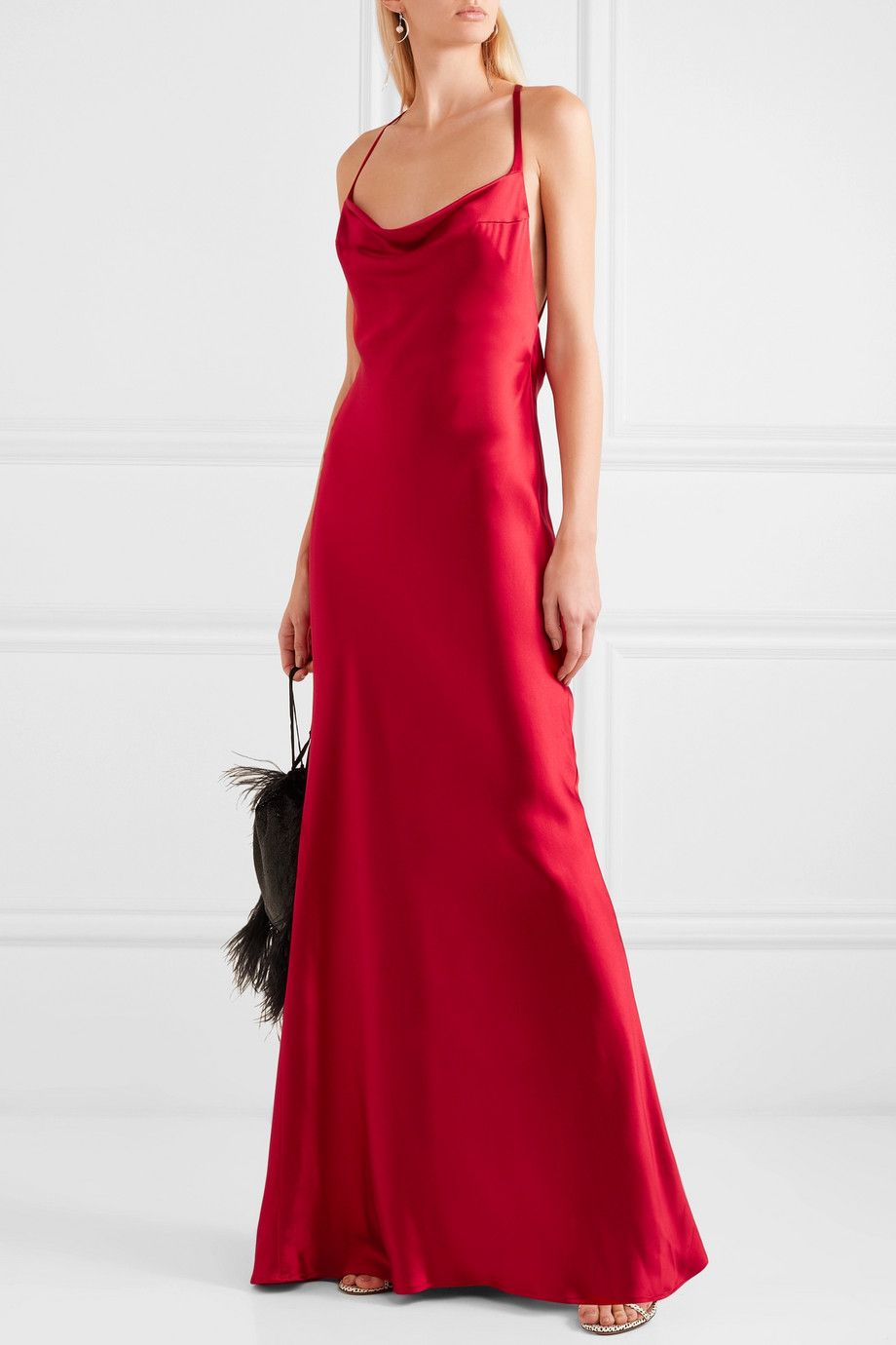 c91758fca21 Galvan - Whiteley open-back silk-satin gown in 2019