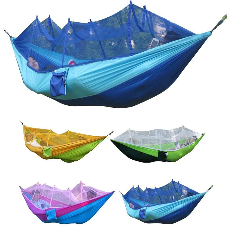 Novelty & Special Use Helpful 2m Mesh Hammock With Rope Portable Nylon Backpacking Hanging Sleeping Bed For Outdoor Travel Camping Beach Available In Various Designs And Specifications For Your Selection