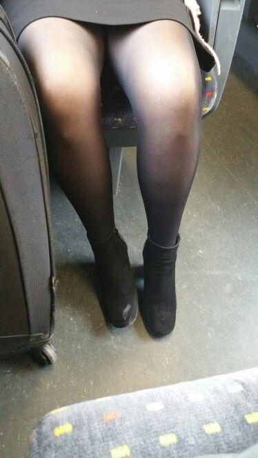 Commit error. Black pantyhose upskirt