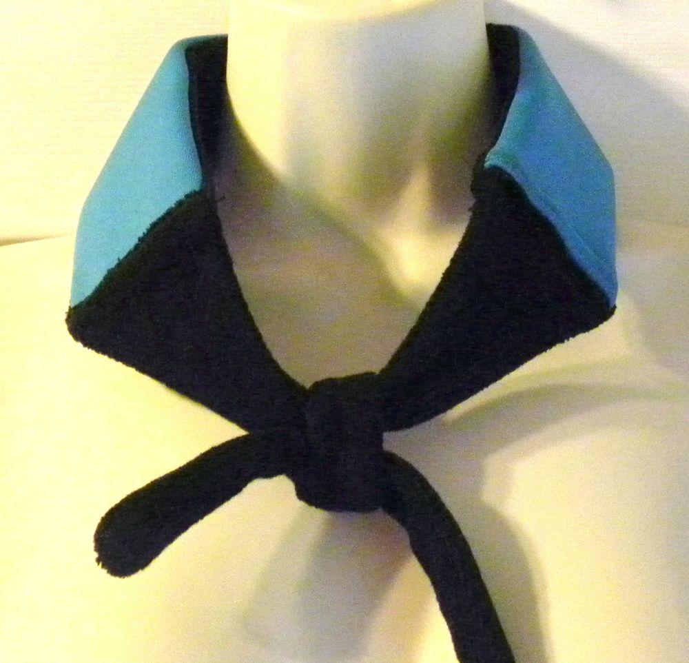 ThermaFreeze~ICE GEL Cooling Neck Wrap Bandana Scarf ~1 insert +1 FREE~BLUE Tie #thermafreeze