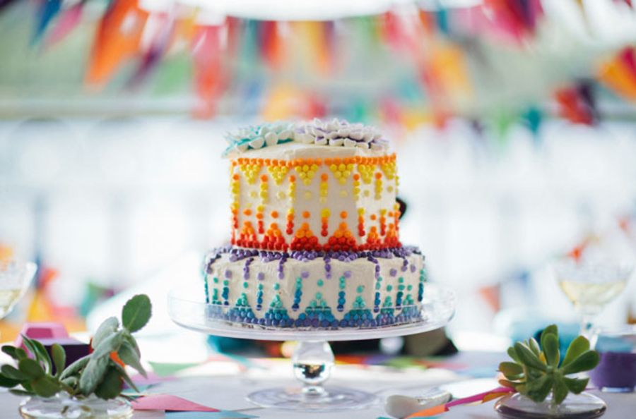 A Bright Rainbow Wedding Theme Full Of Colour Creative Wedding