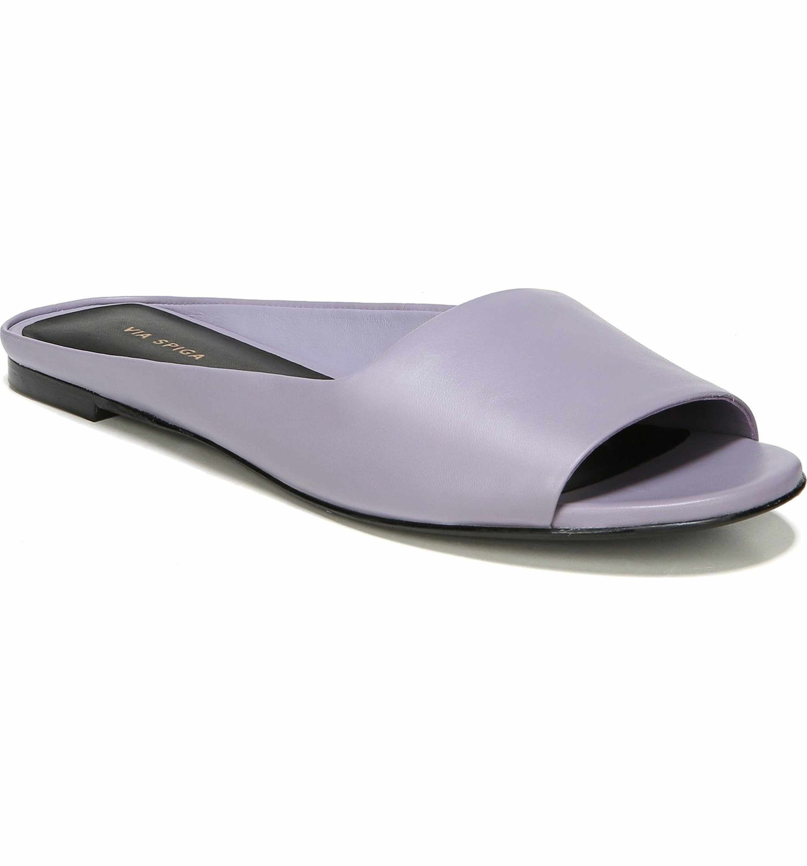 VIA SPIGA New Women's Leather Hana Slides Sandalers Shoes