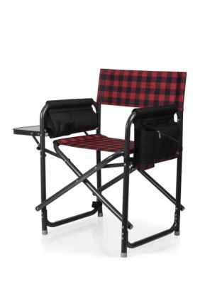 Stupendous Picnic Time Outdoor Directors Chair Red Buffalo Check Andrewgaddart Wooden Chair Designs For Living Room Andrewgaddartcom