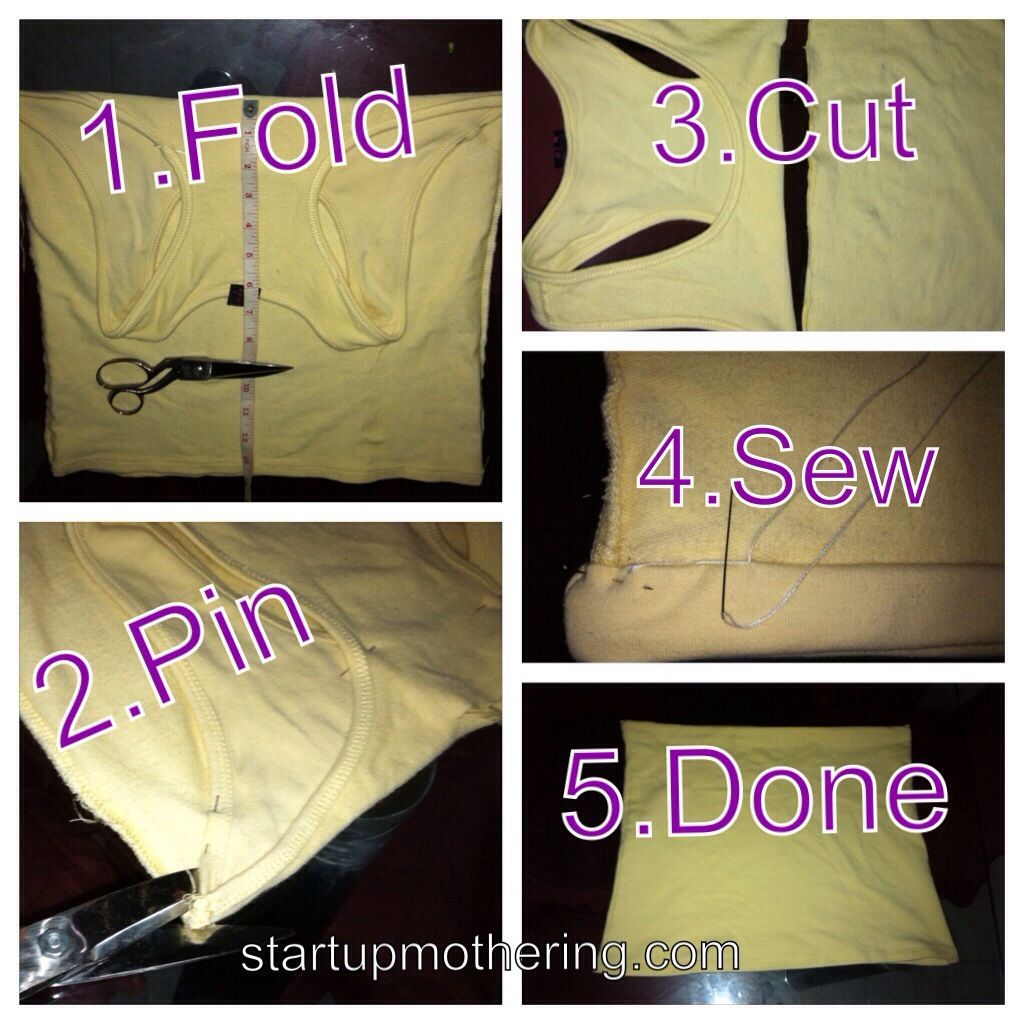 my 5-step nursing tube. tutorial how to transform a tank top or