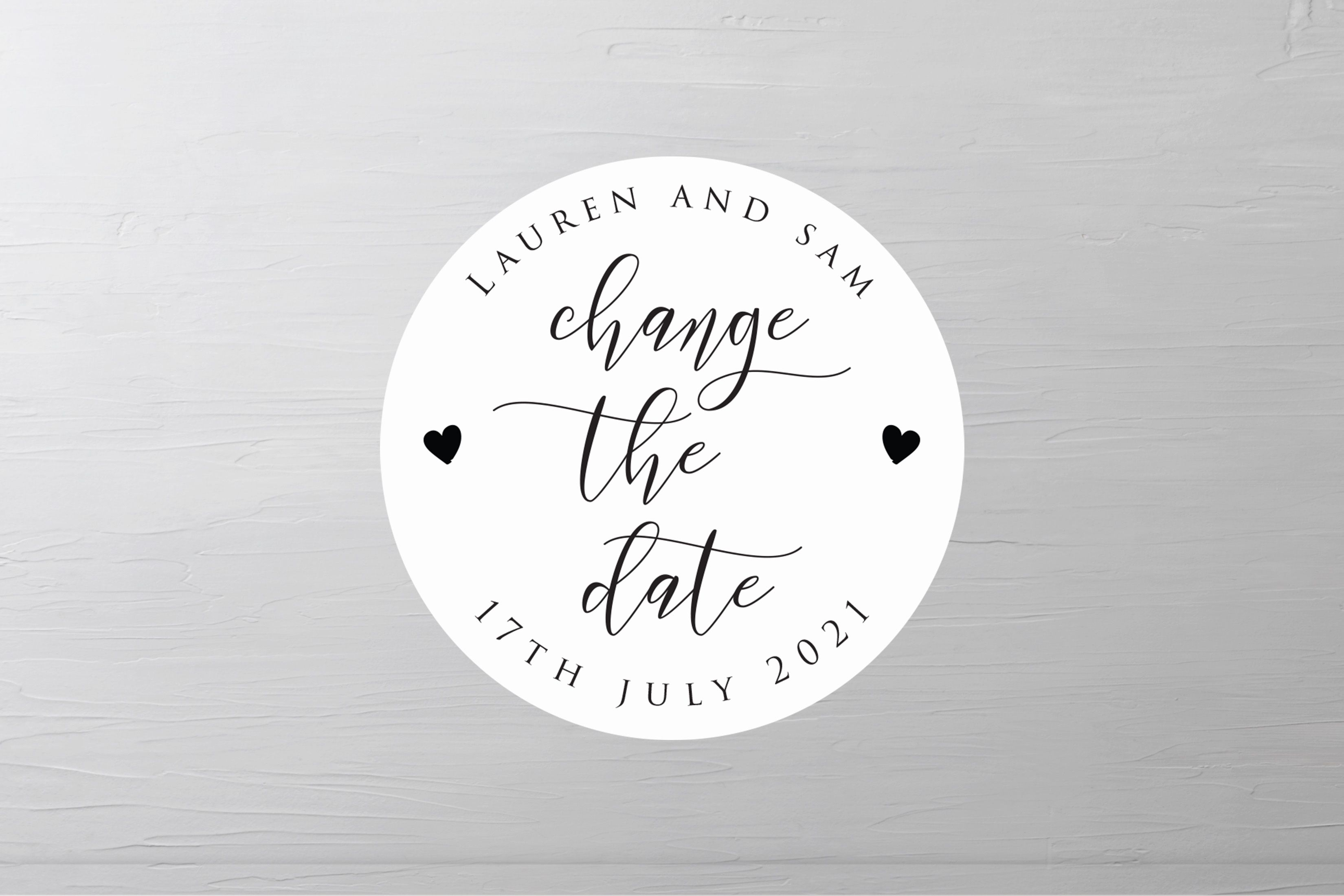 Custom Change The Date Wedding Stickers Envelope Save The | Etsy