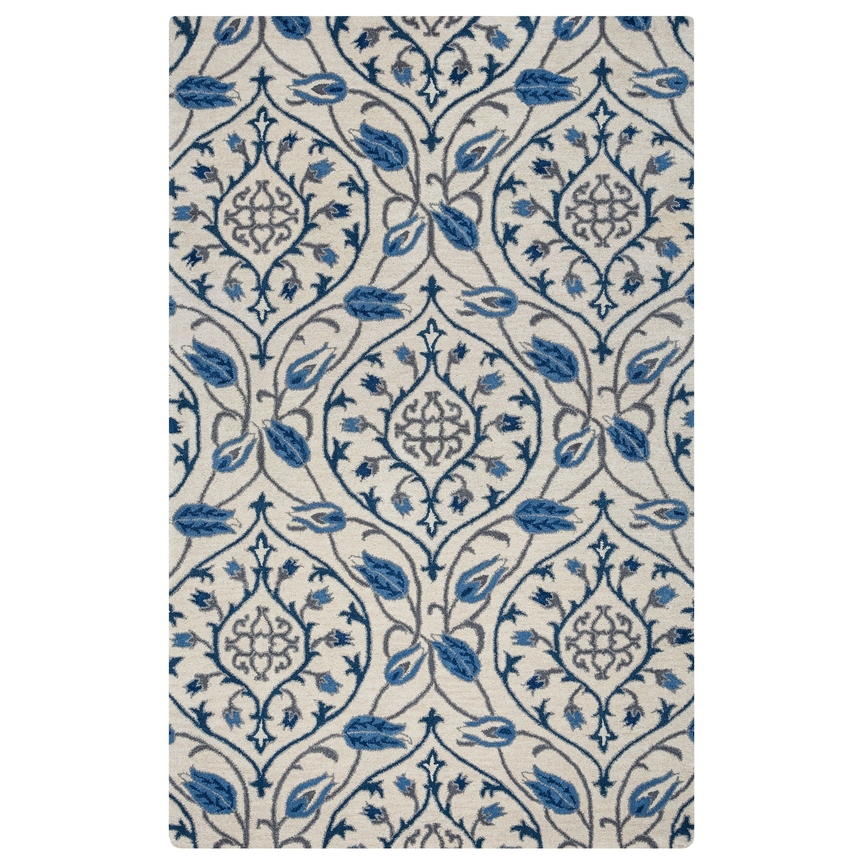 Rizzy Home Valintino Collection VN9522 Area Rug (9' x 12') (VN9522-9'x12'), Multi, Size 9' x 12' (Cotton, Ornamental)