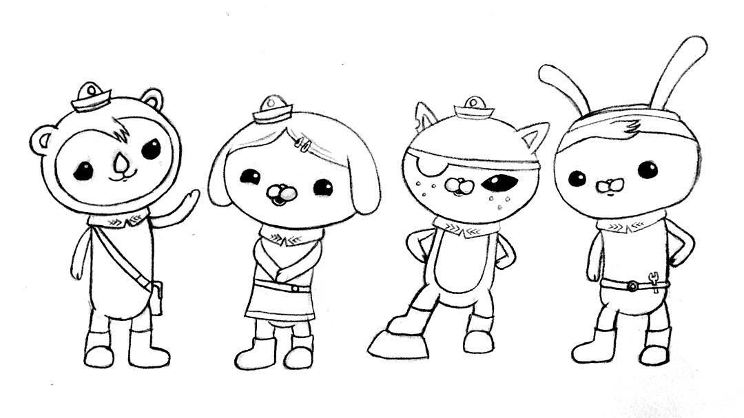 Octonauts drawings | Shower Power | Pinterest