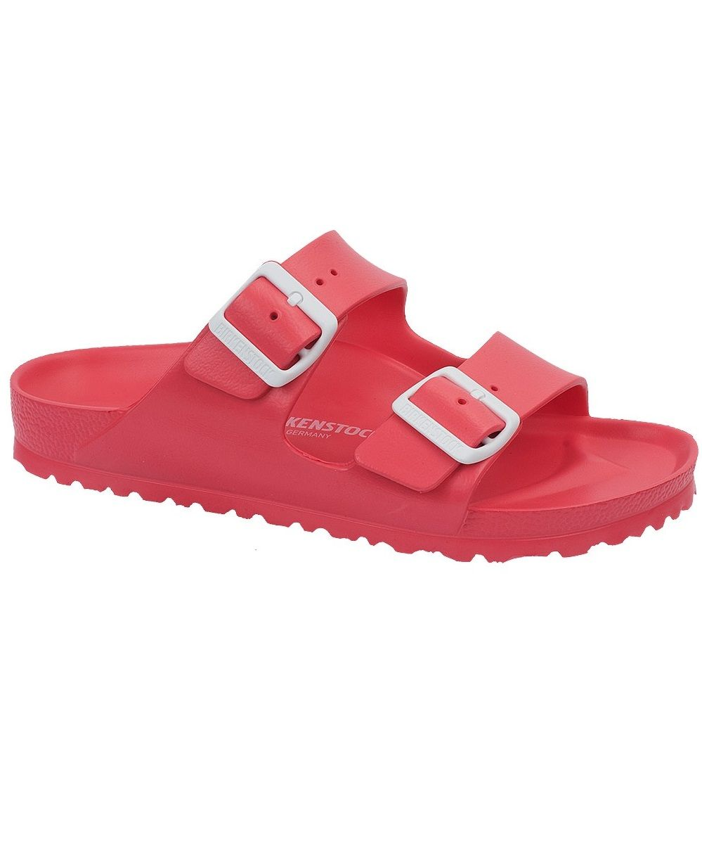 adaf75925c3 Birkenstock Arizona EVA sandal in coral with white buckles. Your favorite Birkenstock  water-friendly