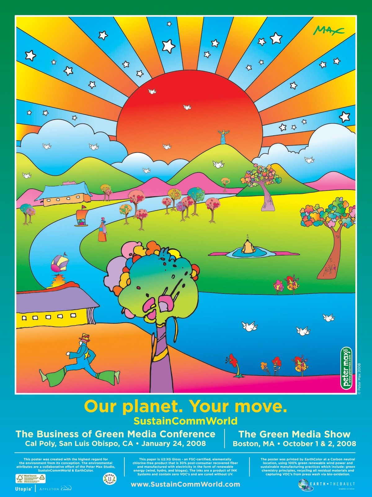 Our your move official poster by peter max poul