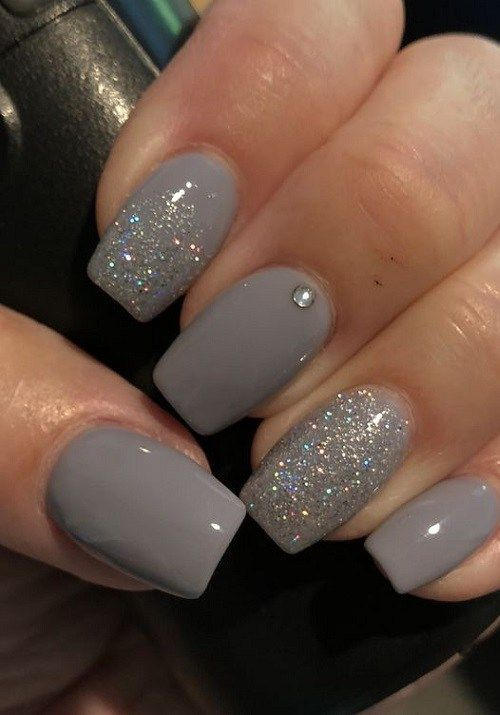 42 Best Grey Nail styles 2019 – Some