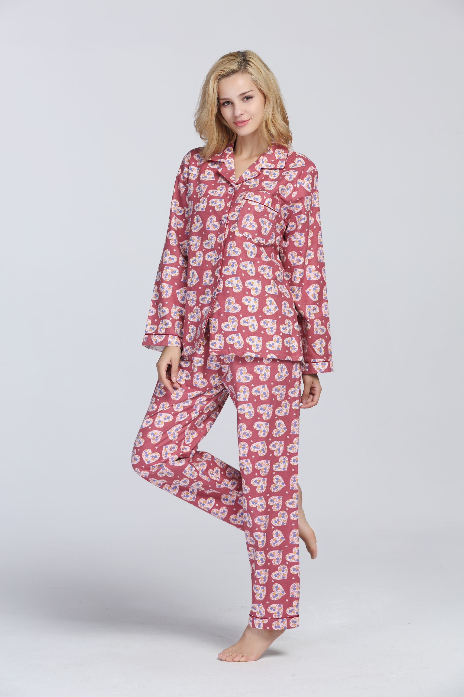 da4fb5472ac0 100% cotton flannel pajama set