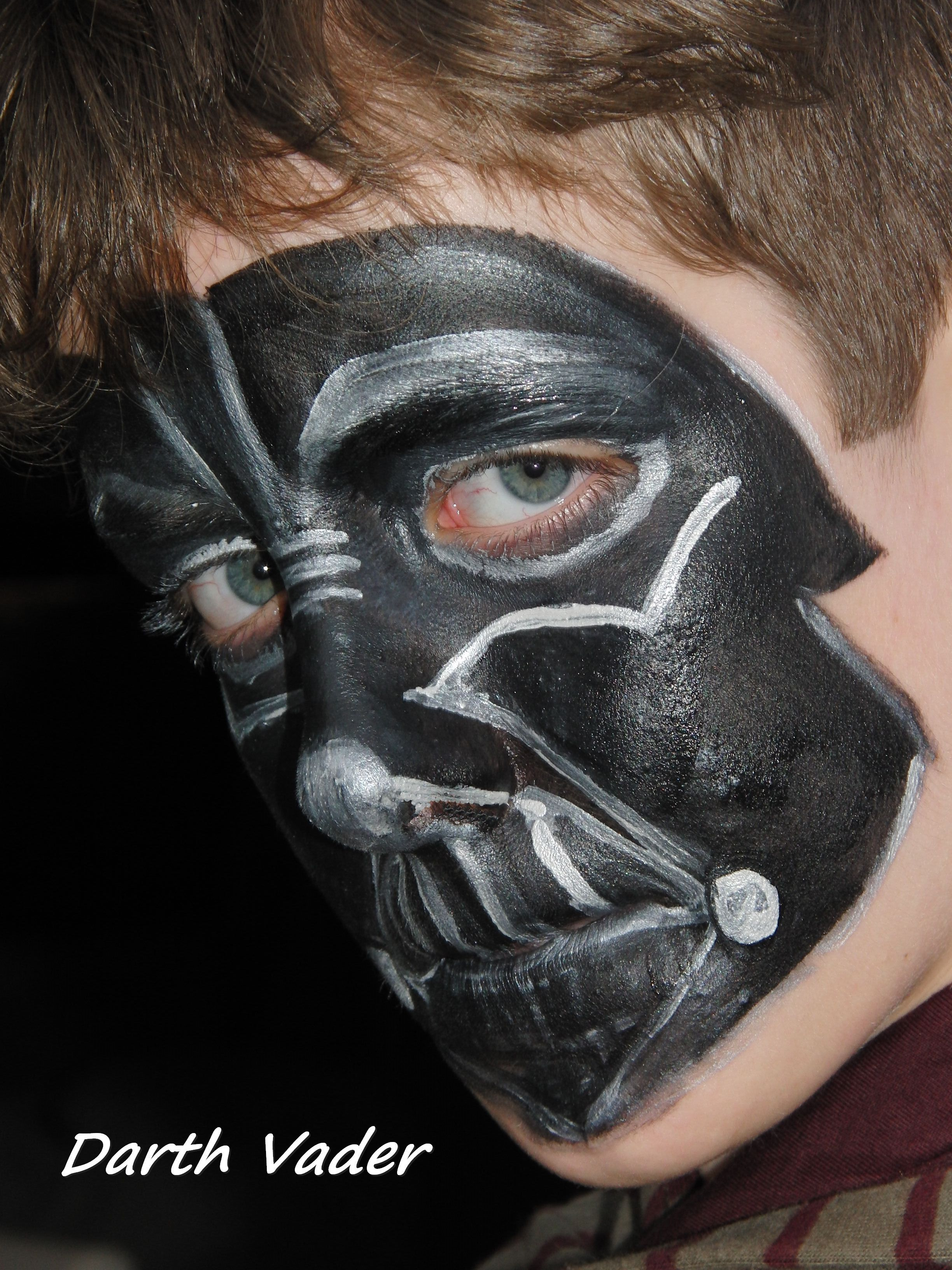 Face painting Star Wars - Darth Vader | Face Paint Star Wars Designs ...