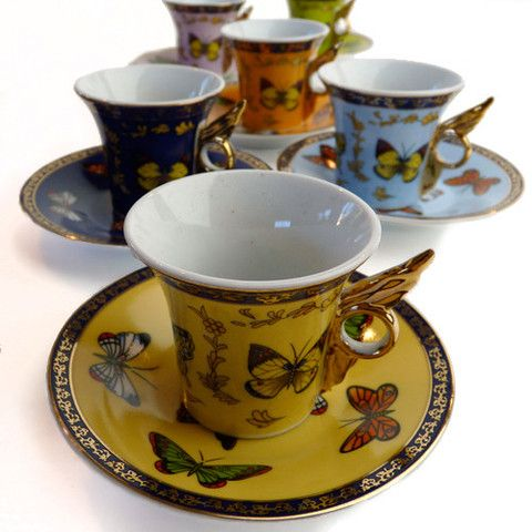 Butterfly Winged Teacup and Saucer Set