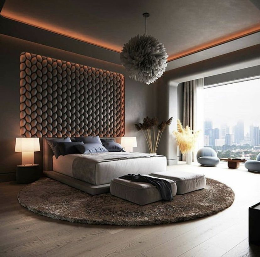 Grey Modern Bedroom South Korea Quarto Principal De Luxo Design Moderno De Quarto Quartos Luxuosos Modern korean bedroom design