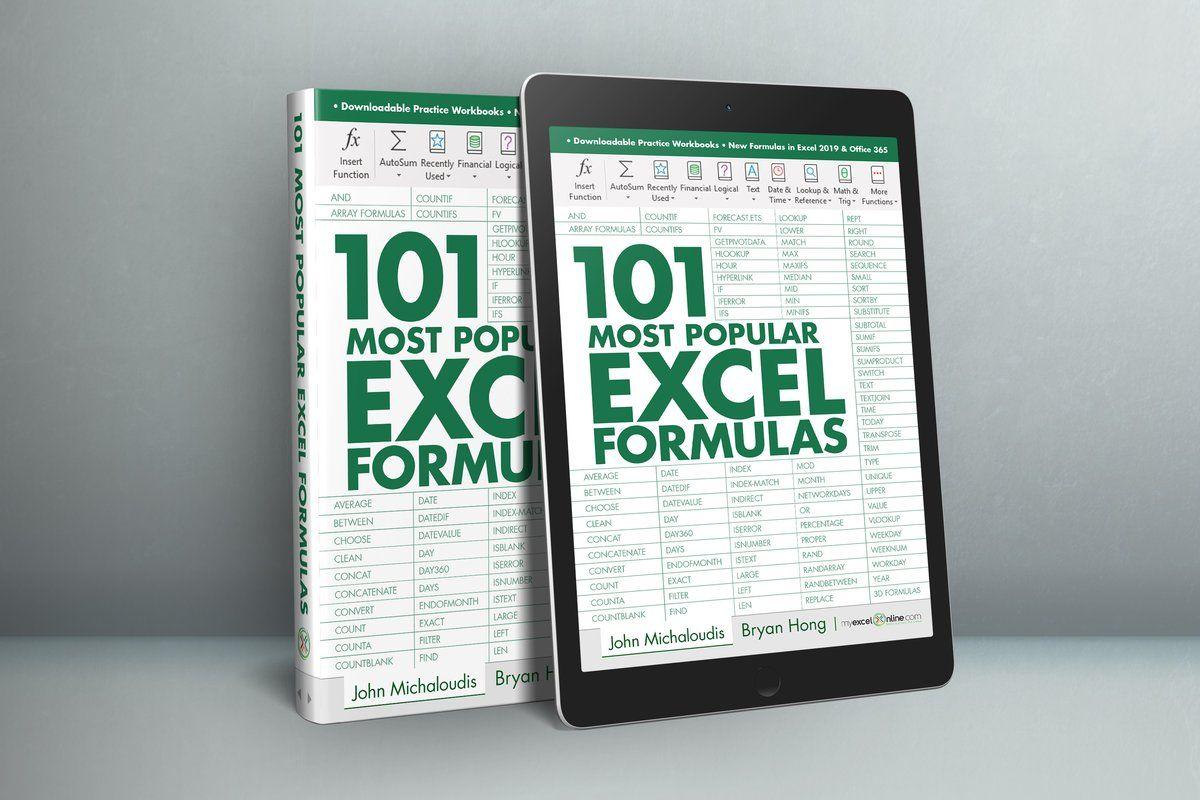 101 Most Popular Excel Formulas E Book 10 Off