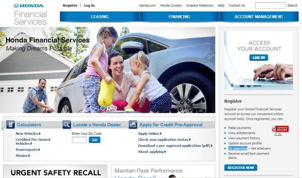 Honda Financial Services Account Management >> Create Honda Financial Services Account To Get Finance