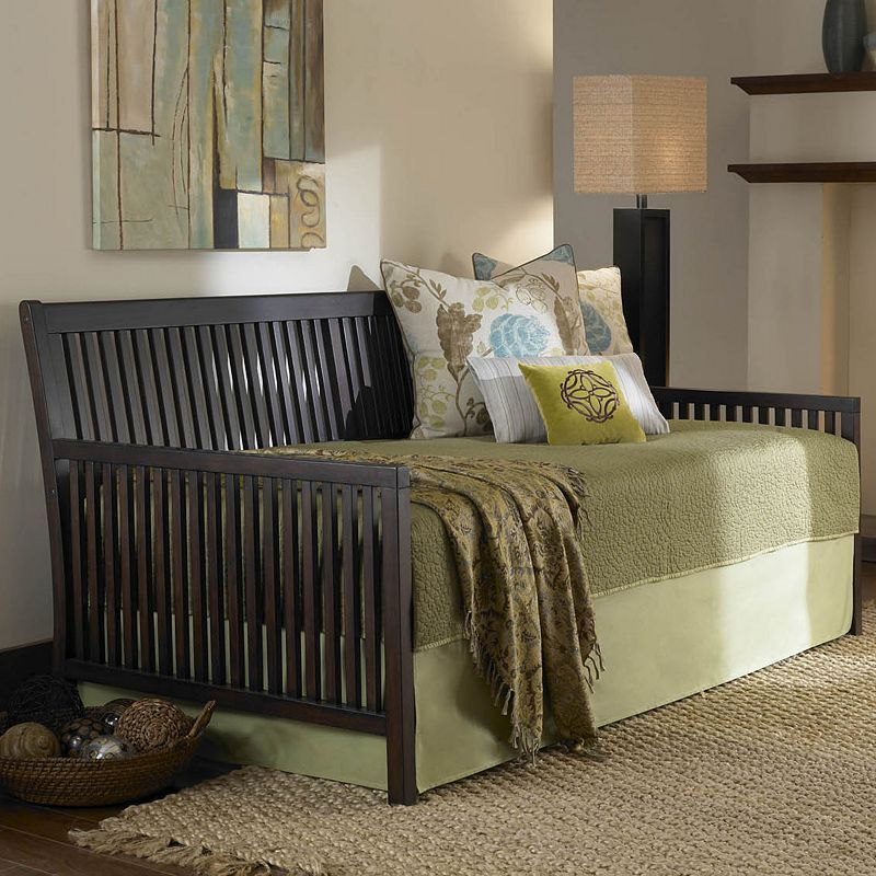 Fashion Bed Group Mission Link Spring Pop Up Daybed Wood