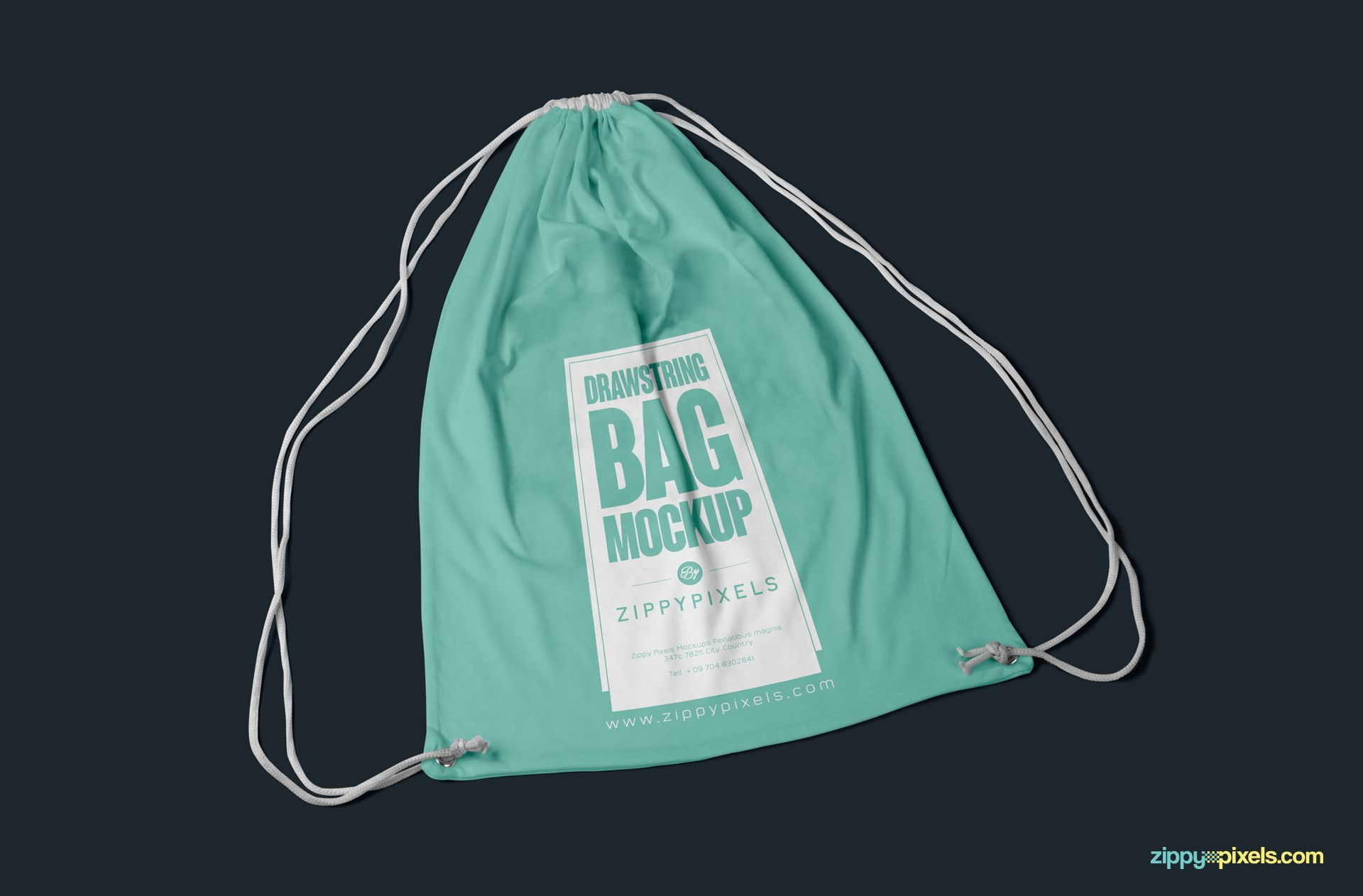 56181cae84e96 Free drawstring backpack mockup featuring sharp details