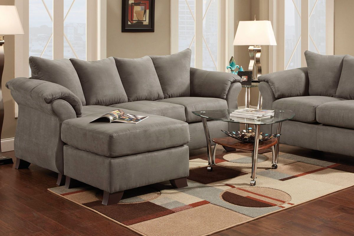 Upton Microfiber Sofa With Floating Ottoman At Gardner White Living Room Furniture Collections White Furniture Living Room Furniture