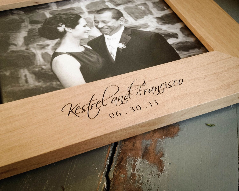 5x7 Engraved Wood Frame. Custom Frame. Monogrammed Frame ...