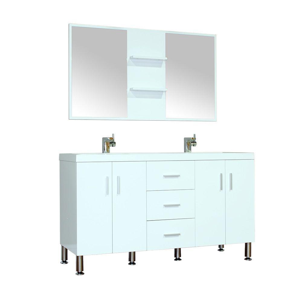 Alya bath ripley collection inch double modern bathroom vanity
