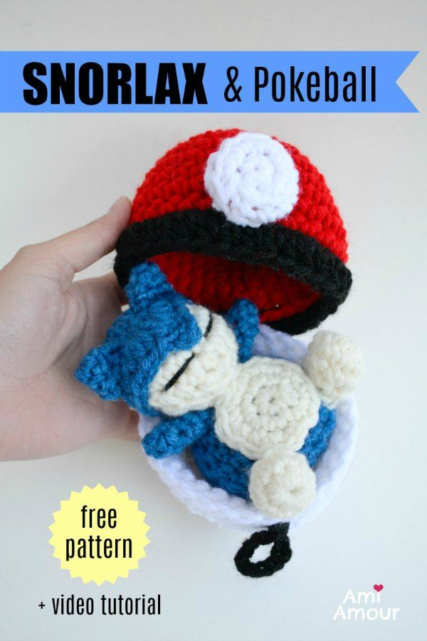 Snorlax Amigurumi - Pokemon Crochet Pattern - FREE - Ami Amour