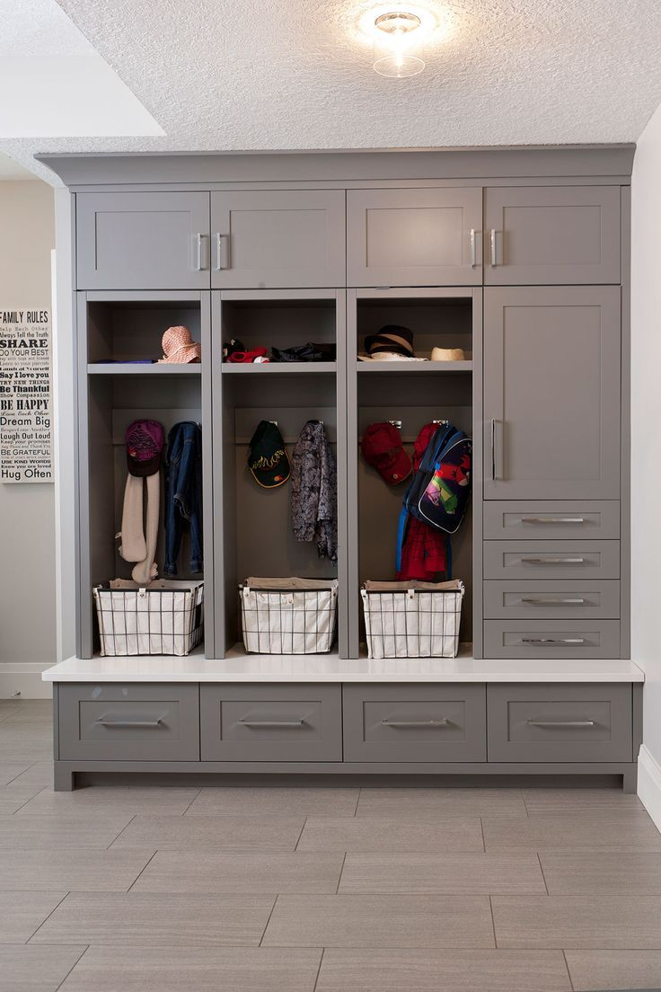 Photo of Mudroom-Schränke, Mudroom-Organisation, Mudroom-Lagerung, Cubby-Schränke, graue K …