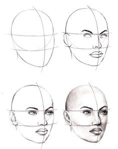 How to Draw a Face – 25 Step by Step Drawings and Video Tutorials
