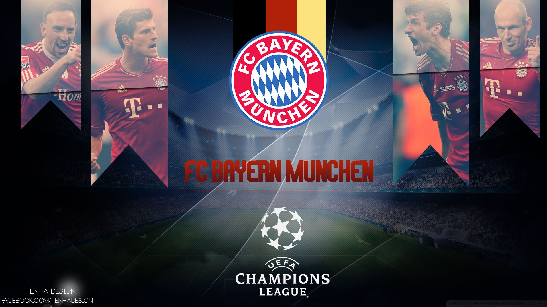 Bayern Munich Uefa Final Wembley 2o13 Hd Desktop Wallpaper 1080p Games Fc Bayern Munich