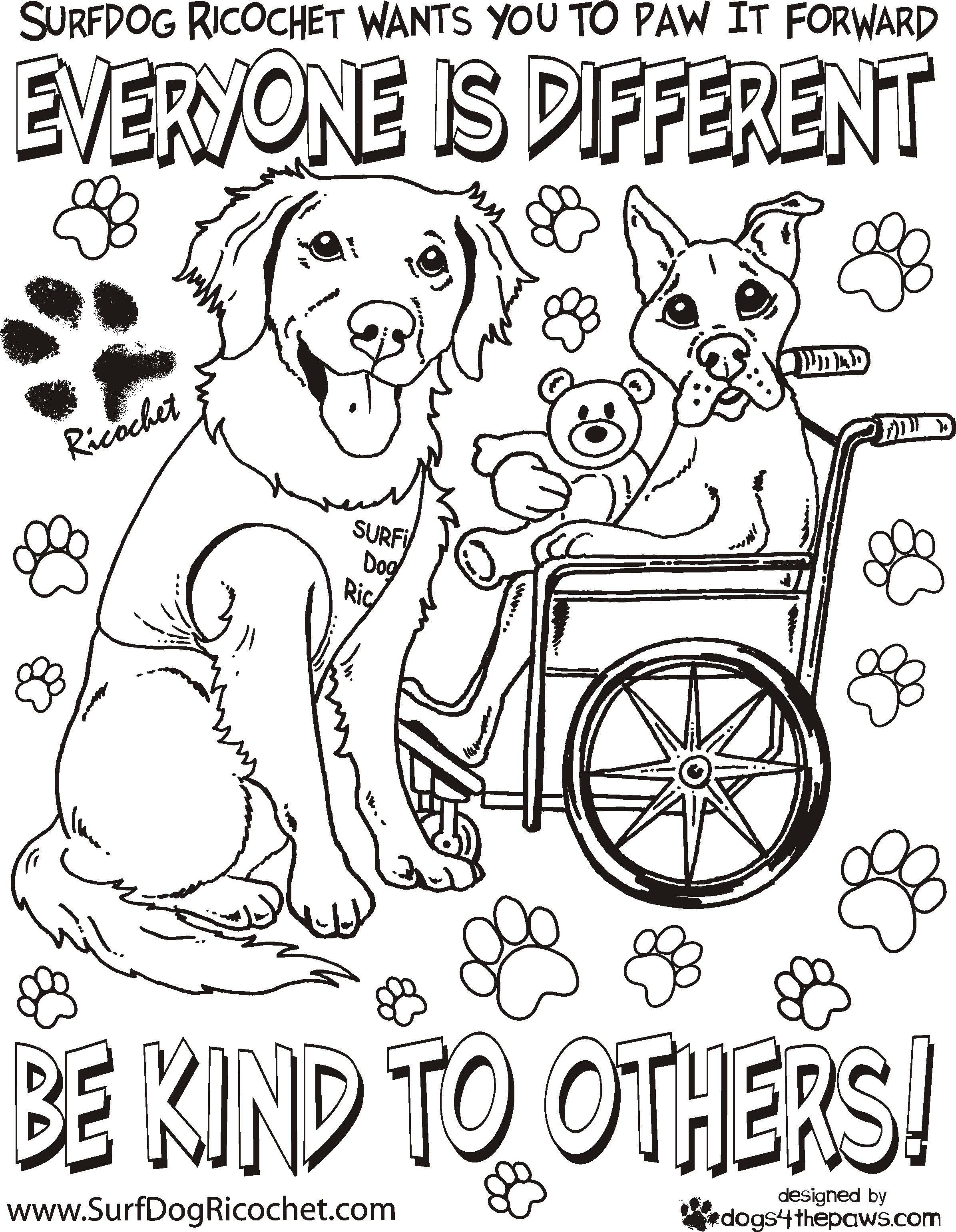 Uncategorized Anti Bullying Worksheets coloring pages for respect surf dog ricochets anti bullying adults only ricochet the surfice dog