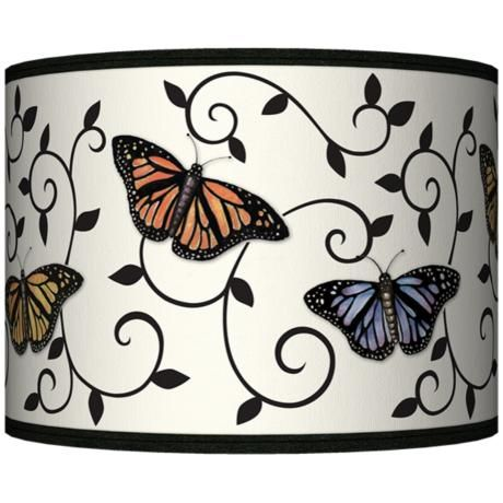 Butterfly scroll giclee lamp shade 135x135x10 spider style butterfly scroll giclee lamp shade 135x135x10 spider style 37869 j5429 mozeypictures Gallery